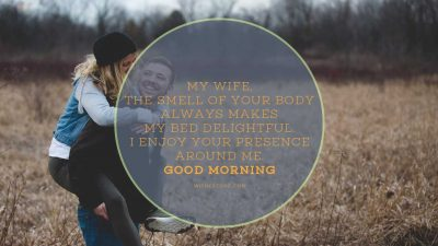 good morning lovely wife