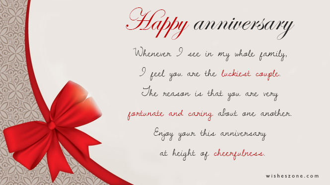 Th Anniversary Wishes For Uncle And Aunty Image