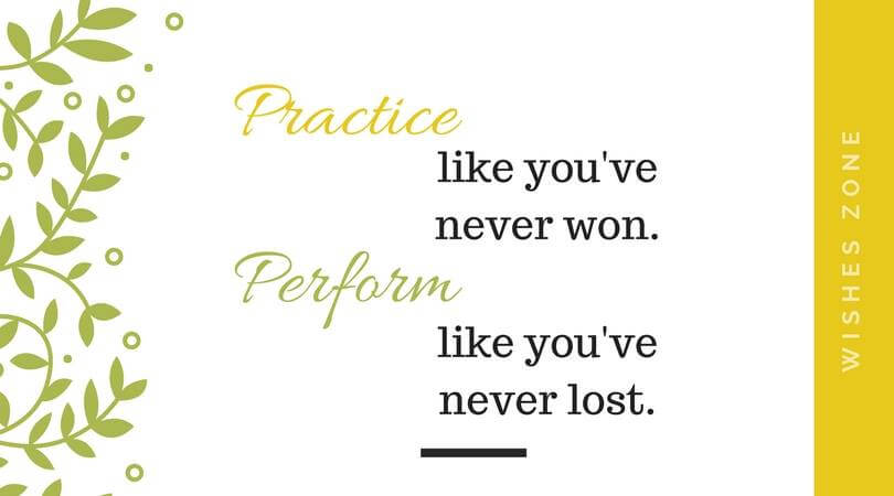 Practice makes your perfect