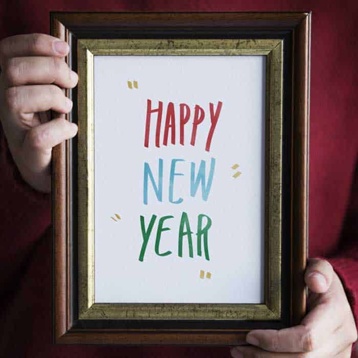 happy new year image frame