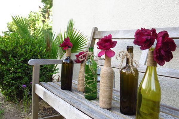 glass bottles for home decor